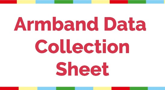 Armband Data Collection Sheet