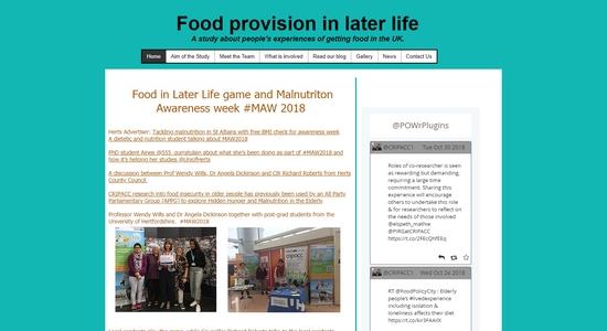 Food Provision in Later Life