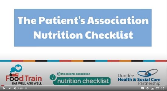 Patients Association Nutrition Checklist Video