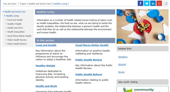 Scottish Government: Healthy Living